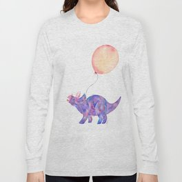 Tie-dye Triceratops Long Sleeve T-shirt