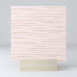 Gold and pastel pink Mini Art Print