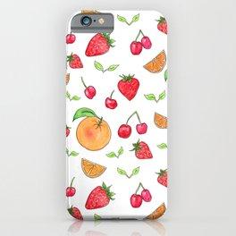Oranges & Strawberries Pattern iPhone Case