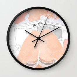 lazy mornings Wall Clock
