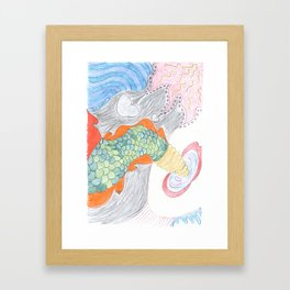 In memory of a lost creature Framed Art Print