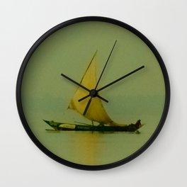 Lake Victoria Sailboat Wall Clock
