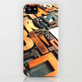 3B - Typography Photography™ iPhone Case