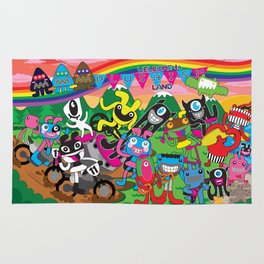 Welcome to Plushism Land Rug