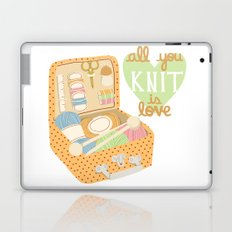 All You Knit Is Love Laptop & iPad Skin