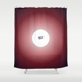 KIROVAIR OPTICAL ILLUSIONS RED CIRCLE #minimal #art #design #kirovair #buyart #decor #home Shower Curtain