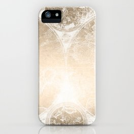 Antique World Map White Gold iPhone Case