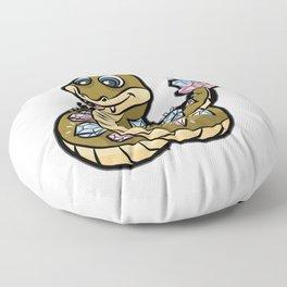 DIAMONDBACK RATTLE SNAKE Viper Cobra rattlesnake Floor Pillow