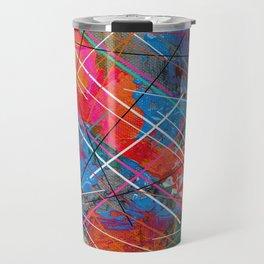 Canvas Abstract Tres Travel Mug