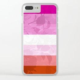 LESBIAN PRIDE FLAG Clear iPhone Case