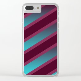 The Burgundy Blues Clear iPhone Case