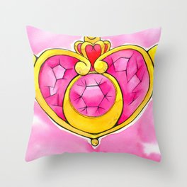 Heart Pendant Throw Pillow