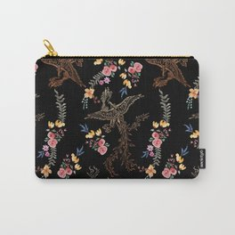 Big bird or Dragon in Watercolor Flowers Carry-All Pouch