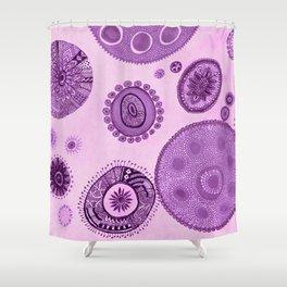 Journey through the Violet Mist Shower Curtain
