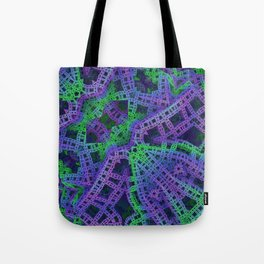 Green and purple film ribbons Tote Bag