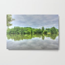 Cloudy Reflection HDR Metal Print