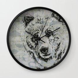 Gray Bear Wall Clock