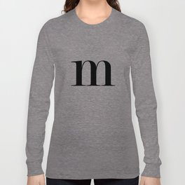 Monogram Series Letter M Long Sleeve T-shirt