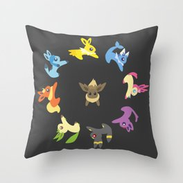 Eevee Evolutions Throw Pillow