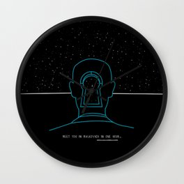 Meet you in Malkovich in one hour Wall Clock