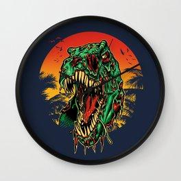 Zombie T-Rex Wall Clock