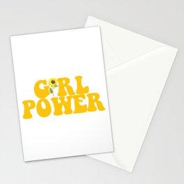 GIRL POWER SUNFLOWER Stationery Cards