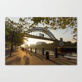 Quayside Sunrays Canvas Print