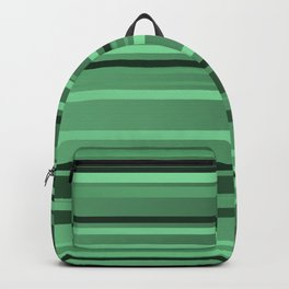 Stripes small only green Backpack