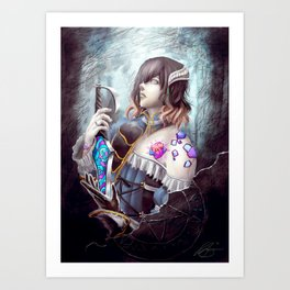 Bloodstained Miriam Art Print