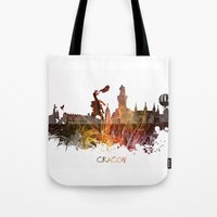 poland Tote Bags featuring Cracow Poland by jbjart