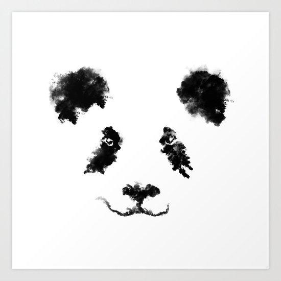 Clouds Panda Art Print