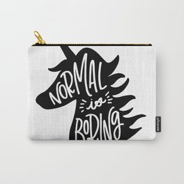 Normal Is Boring (Black and White) Carry-All Pouch