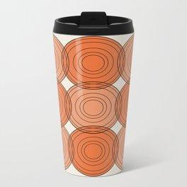 Red & Orange Circles Metal Travel Mug