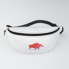Pig Swine Animal Wildlife Wild Boar Running Gift Fanny Pack