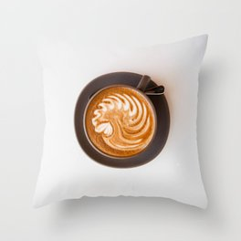 Lost in the Morning Throw Pillow