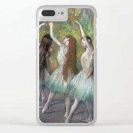 Edgar Degas - Green Dancers Clear iPhone Case