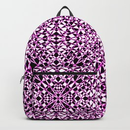 Black and White Stained Glass 1 Backpack