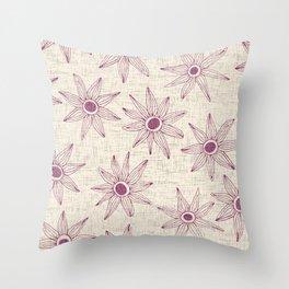 sema cream damson Throw Pillow