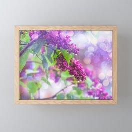 Spring rain Framed Mini Art Print