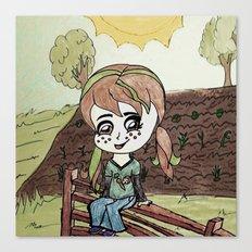 Garden Fence {Carrots & Tofu} Canvas Print