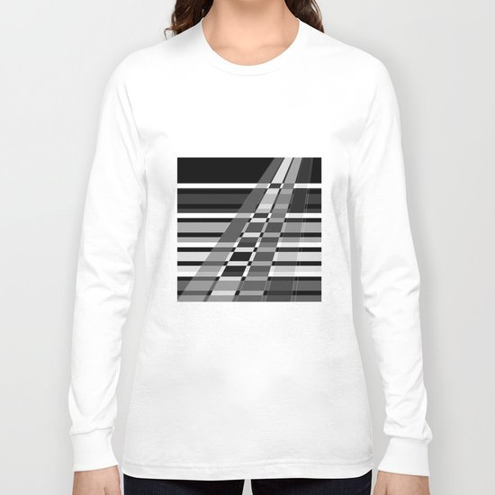 Black and white abstract pattern . The slant line 1. Long Sleeve T-shirt