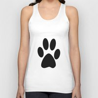 furry Tank Tops featuring Furry Paw by Red Tree Arts