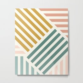 Abstract Summer Lines Metal Print