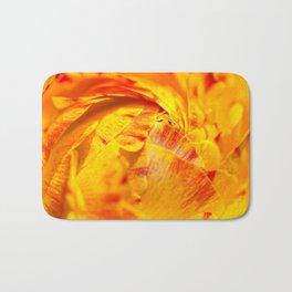 ranunculus red/orange Bath Mat