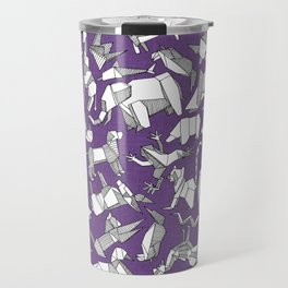 origami animal ditsy purple Travel Mug