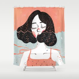 Drowning in Thoughts Shower Curtain