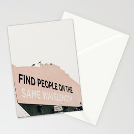 Find People on the Same Wavelength Stationery Cards