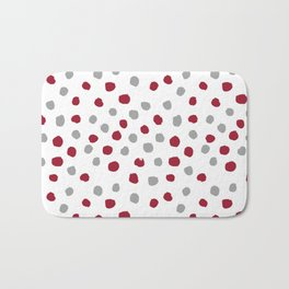 University of Alabama colors dots polka dots minimal pattern college football sports Bath Mat