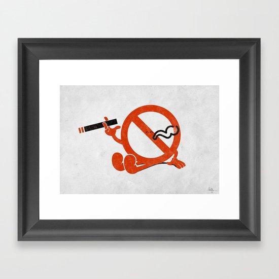 Smoke Break Framed Art Print