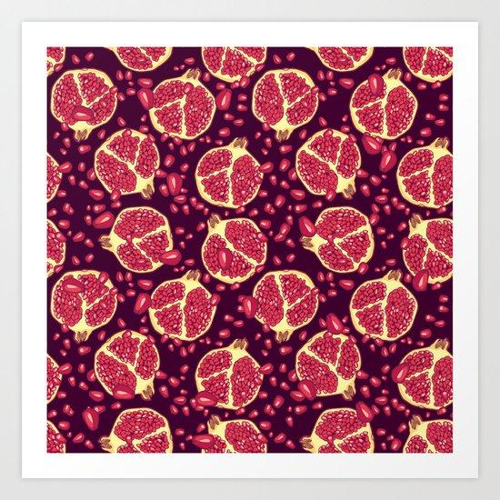 Pomegranate pattern. Art Print